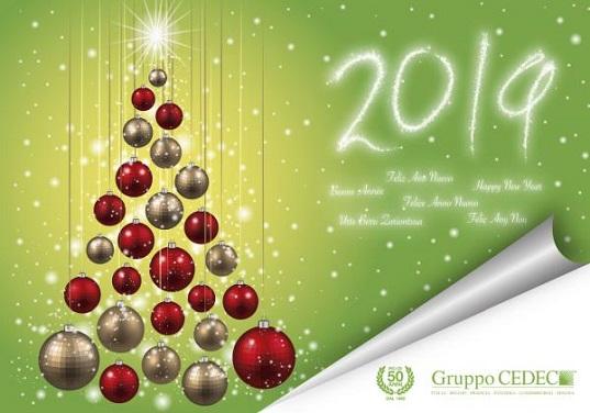 Buon Natale e Felice Anno Nuovo 2019 da tutto il team CEDEC